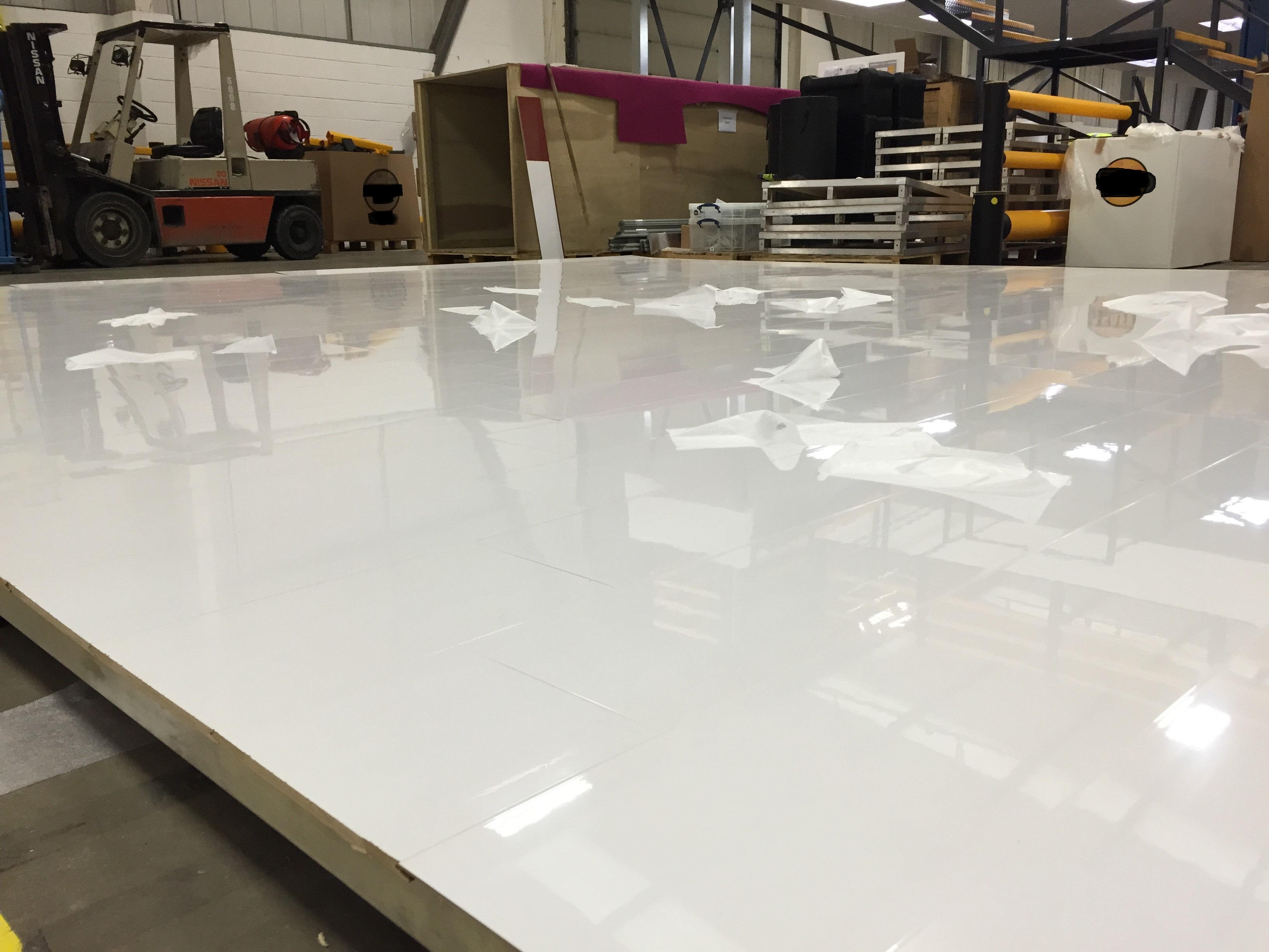 ... is no doubt our hugely popular designer white high gloss laminate