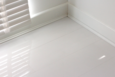 White Laminate Flooring kronotex gloss white laminate tiles High Gloss Designer White