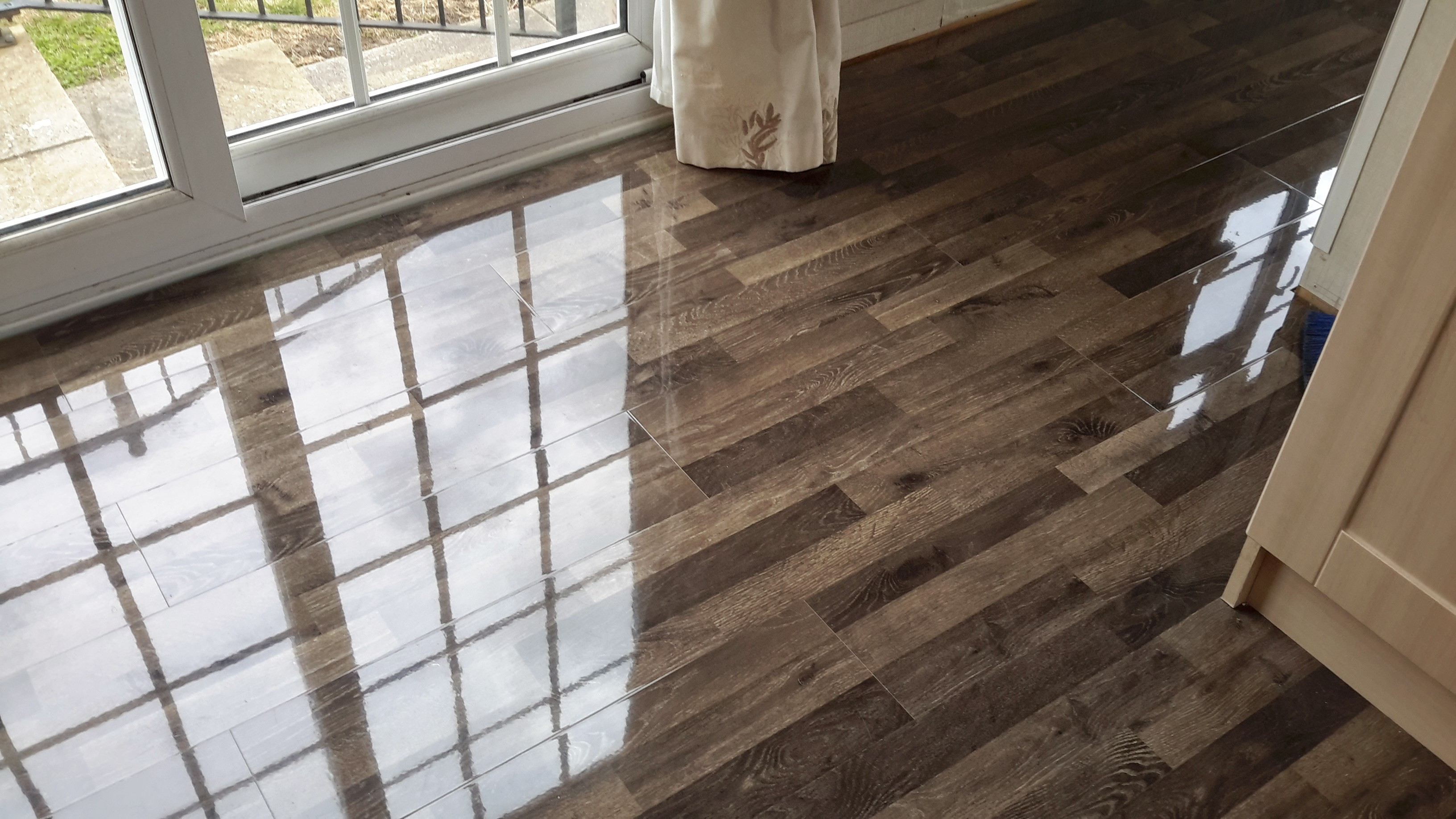 Vintage Ivory Oak High Gloss Flooring Floorless Floors