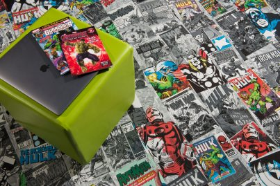 Marvel Comics High-Gloss flooring